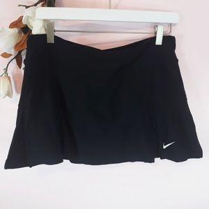 NIKE DRI FIT Black Athletic Work Out Skort Sz M